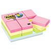 Post-it® Notes Original Pads in Marseille Colors, Value Pack, 1 1/2 x 2, 100-Sheet, 24/Pack MMM65324APVAD