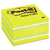 Post-it® Notes Original Cubes, 3 x 3, Blue Wave, 470-Sheet MMM2056RC