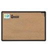 Best-Rite® Black Splash-Cork Board, 36 x 24, Natural Cork, Black Frame BLT300PBT1