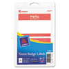 "Avery Name Badge Label - Removable Adhesive - ""Hello My Name Is"" - 2.34"" Width x 3.37"" Length - 2 /  AVE5140"