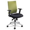 Safco® Tez Series Manager Synchro-Tilt Task Chair, Green Mesh Back, Black Fabric Seat SAF7031WA