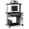 Mayline® Eastwinds Multimedia Workstation, 36-3/4w x 21-1/4d x 50h, Anthracite MLN8350MRANT