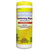 Boardwalk® Disinfecting Wipes, 8 x 7, Lemon Scent, 35/Canister, 12 Canisters/Carton BWK355W35