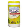Boardwalk® Disinfecting Wipes, 8 x 7, Lemon Scent, 75/Canister, 6 Canisters/Carton BWK355W75