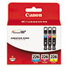 4547B005 (CLI-226) Ink, Cyan/Magenta/Yellow, 3/PK