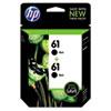 <strong>HP</strong><br />HP 61, (CZ073FN) 2-Pack Black Original Ink Cartridges
