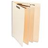 Universal® Manila End Tab Folders with Full Cut, Letter, Six-Section, 10/Box UNV16150