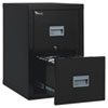 Patriot Insulated Two-Drawer Fire File, 17 3/4w x 25d x 27 3/4h, Black