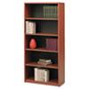 Safco® Value Mate Series Metal Bookcase, Five-Shelf, 31-3/4w x 13-1/2d x 67h, Cherry SAF7173CY