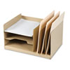 "7520014521563 SKILCRAFT Combination Desk File, 6 Sections, Letter Size Files, 14"" x 7.75"" x 11"", Beige"
