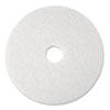 "Super Polish Floor Pad 4100, 19"" Diameter, White, 5/Carton"