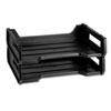 """<strong>AbilityOne®</strong><br />7520010944307 SKILCRAFT Plastic Desk Tray, 1 Section, Letter Size Files, 12"""" x 8.5"""" x 5"""", Black, 2/Pack"""