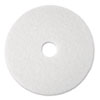 "Super Polish Floor Pad 4100, 13"" Diameter, White, 5/Carton"