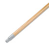 "<strong>Boardwalk®</strong><br />Metal Tip Threaded Hardwood Broom Handle, 15/16"" Dia x 60"" Long"