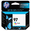 HP 97, (C9363WN) Tri-Color Original Ink Cartridge