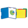Deluxe Reinforced Top Tab Folders, 2 Fasteners, 1/3 Tab, Letter, Blue, 50/Box