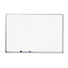Mead® Dry-Erase Board, Melamine Surface, 72 x 48, Silver Aluminum Frame MEA85358