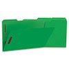 Deluxe Reinforced Top Tab Folders, 2 Fasteners, 1/3 Tab, Legal, Green, 50/Box