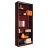 "<strong>Alera®</strong><br />Square Corner Wood Veneer Bookcase, Seven-Shelf, 35.63""w x 11.81""d x 83.86""h, Mahogany"