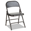 Alera® Steel Folding Chair with Two-Brace Support, Graphite, 4/Carton ALEFC94B