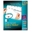 Avery® Index Maker Print & Apply Clear Label Dividers w/White Tabs, 5-Tab, Letter AVE11490