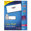 Avery® Easy Peel Mailing Address Labels, Laser, 1 1/3 x 4, White, 1400/Box AVE5162