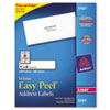 Avery® Easy Peel Mailing Address Labels, Laser, 1 x 4, White, 2000/Box AVE5161