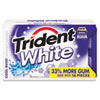 Trident® White Sugarless Gum, Cool Rush Flavor, 16-Pieces/Pack, 9 Packs/Box CDB6763800
