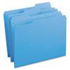 Smead® File Folders, 1/3 Cut, Reinforced Top Tab, Letter, Blue, 100/Box SMD12034