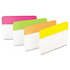 "2"" and 3"" Tabs, 1/5-Cut Tabs, Assorted Brights, 2"" Wide, 24/Pack"