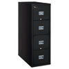 Patriot Insulated Four-Drawer Fire File, 17 3/4w x 31 5/8d x 52 3/4h, Black