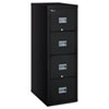 Patriot Insulated Four-Drawer Fire File, 17 3/4w x 25d x 52 3/4h, Black
