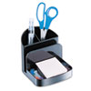 "OIC Recycled Deluxe Desk Organizer, Black - 5 Compartment(s) - 5"" Height x 5.4"" Width x 6.8"" Depth - OIC26022"