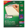 Avery® Removable 1/3-Cut File Folder Labels, Inkjet/Laser, .66 x 3.44, WE/ASST, 750/PK AVE6466