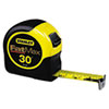 "Fat Max Tape Rule, 1 1/4"" x 30ft, Plastic Case, Black/Yellow, 1/16"" Graduation"