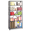 Commercial Steel Shelving Unit, Six-Shelf, 36w x 12d x 75h, Dark Gray