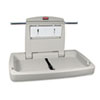 Rubbermaid® Commercial Sturdy Station 2 Baby Changing Table, Platinum - FG781888LPLAT