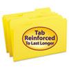 Smead® File Folders, 1/3 Cut, Reinforced Top Tab, Legal, Yellow, 100/Box SMD17934