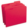 Smead® File Folders, 1/3 Cut, Reinforced Top Tab, Letter, Red, 100/Box SMD12734