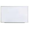 Universal® Dry Erase Board, Melamine, 60 x 36, Satin-Finished Aluminum Frame UNV43625