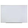 Universal® Dry Erase Board, Melamine, 72 x 48, Satin-Finished Aluminum Frame UNV43626