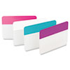 File Tabs, 2 x 1 1/2, Assorted Pastel, 24/Pack