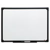 <strong>Universal®</strong><br />Dry Erase Board, Melamine, 24 x 18, Black Frame