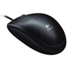 Logitech® B100 Optical USB Mouse, Black LOG910001439