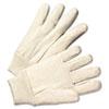 Light-Duty Canvas Gloves, White, Dozen