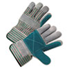 Anchor Brand® 2000 Series Leather Palm Gloves, Gray/Green/Red, Large, 12 Pairs - ANR2300