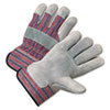 Anchor Brand® 2000 Series Leather Palm Gloves, Gray/Red, Large, 12 Pairs - ANR2100