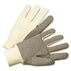 <strong>Anchor Brand®</strong><br />PVC-Dotted Canvas Gloves, White, One Size Fits All, 12 Pairs