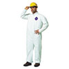 DuPont® Tyvek Coveralls, Open Wrist/Ankle, HD Polyethylene, White, Large, 25/Carton - 251-TY120S-L