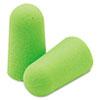 Pura-Fit Single-Use Earplugs, Cordless, 33nrr, Bright Green, 200 Pairs